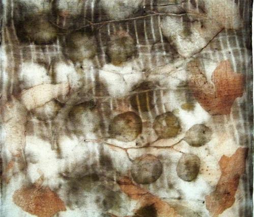 Eco-Printed Silk/Wool Scarves by Jennifer Gould