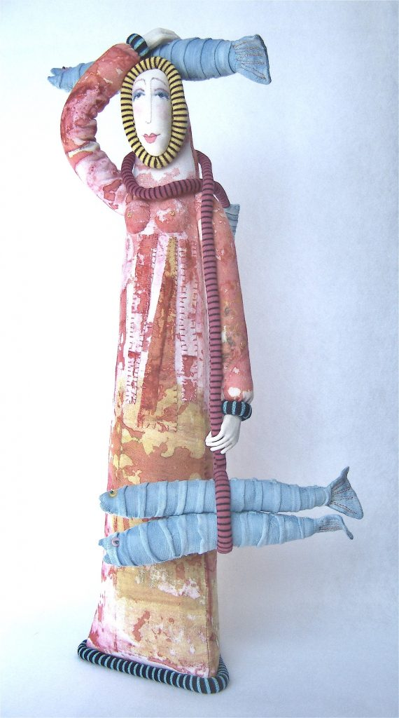 Pisces Woman 20 with Blue Fish